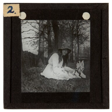 View 5. Thumbnail of Lot 72. [DOYLE, Sir A.C.] COTTINGLEY FAIRIES   Collection from M.T. Johnson, including 5 photographic plates, psychic spectacles.