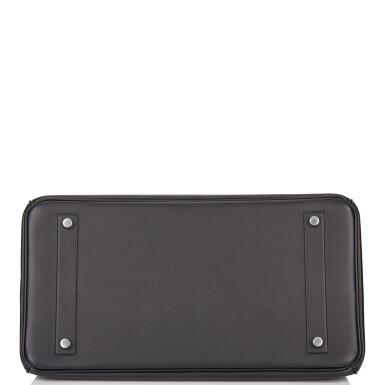 View 6. Thumbnail of Lot 32. Hermès Black Shadow Birkin 35cm of Swift Leather.