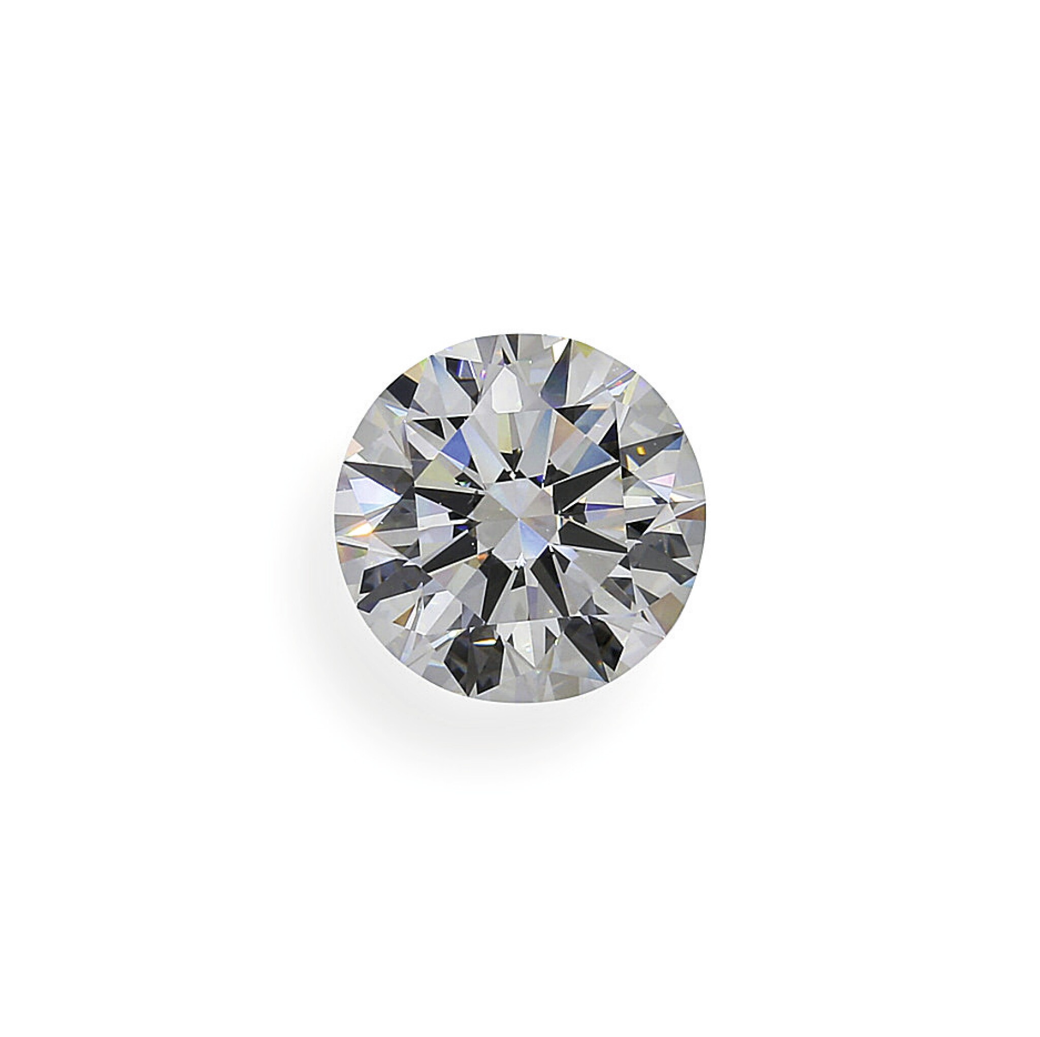 View full screen - View 1 of Lot 2. A 4.07 Carat Round Diamond, E Color, VS1 Clarity.