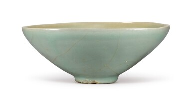 View 3. Thumbnail of Lot 1070.  A CARVED CELADON-GLAZED BOWL,  KOREA, GORYEO DYNASTY, 13TH / 14TH CENTURY.