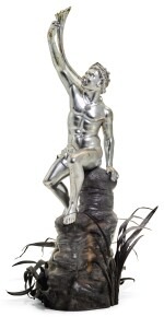 A CONTINENTAL SILVER MODEL OF GIAMBOLOGNA'S 'TRITON', ATTRIBUTED TO G. FRITSCH, CIRCA 1900