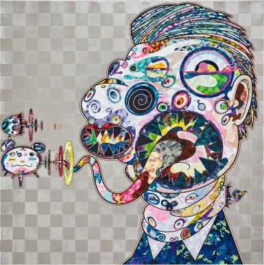 View 3. Thumbnail of Lot 1129. Takashi Murakami 村上隆 | Homage to Francis Bacon (Study for Head of Isabel Rawsthorne and George Dyer) 培根致敬:伊莎貝爾‧羅斯與喬治‧戴爾頭像習作.