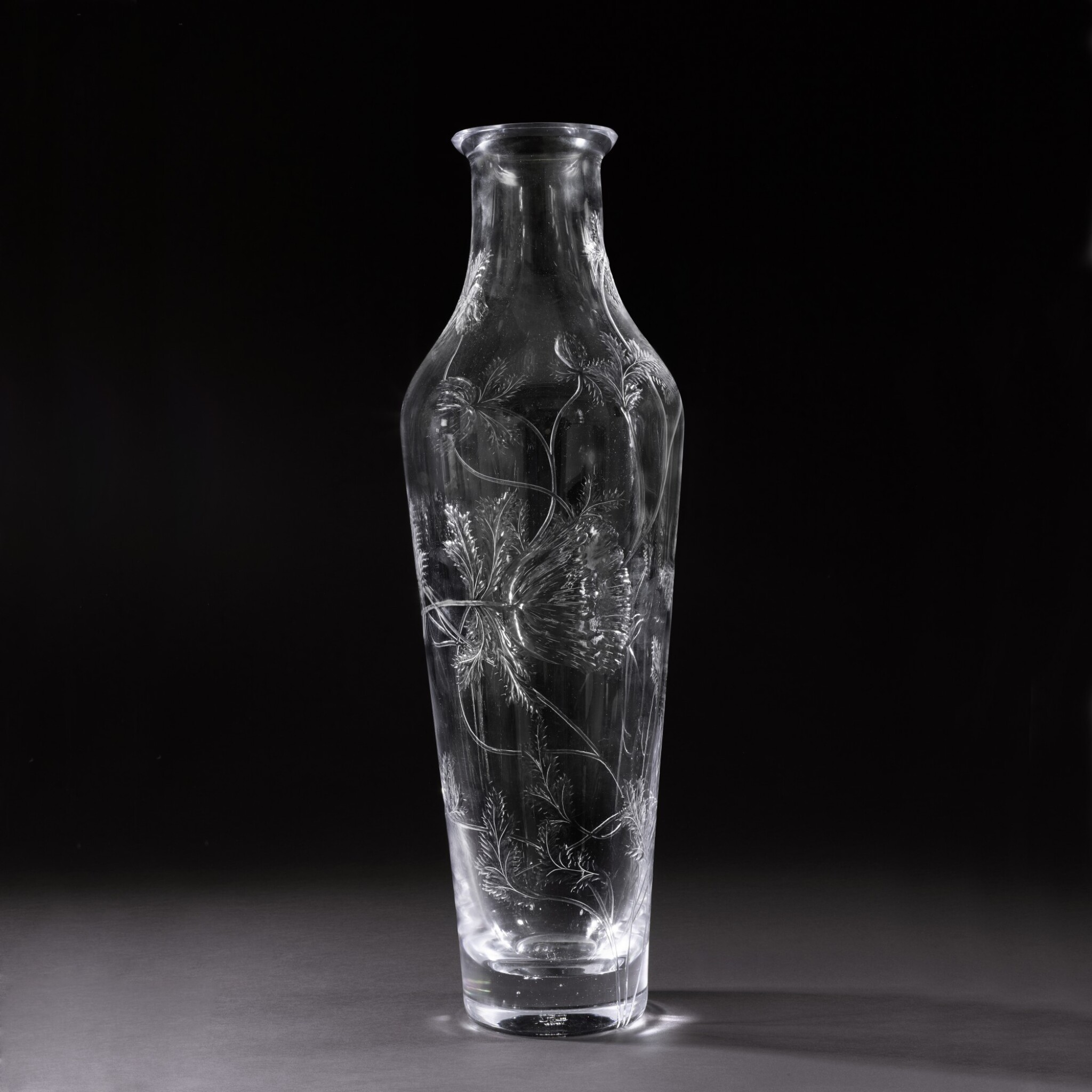 View full screen - View 1 of Lot 142. A very large glass vase, Imperial Glass Factory, St Petersburg, Period of Nicholas II (1894-1917), 1909.
