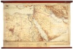 Arabia and Africa, composite wall map in five parts, c.1934
