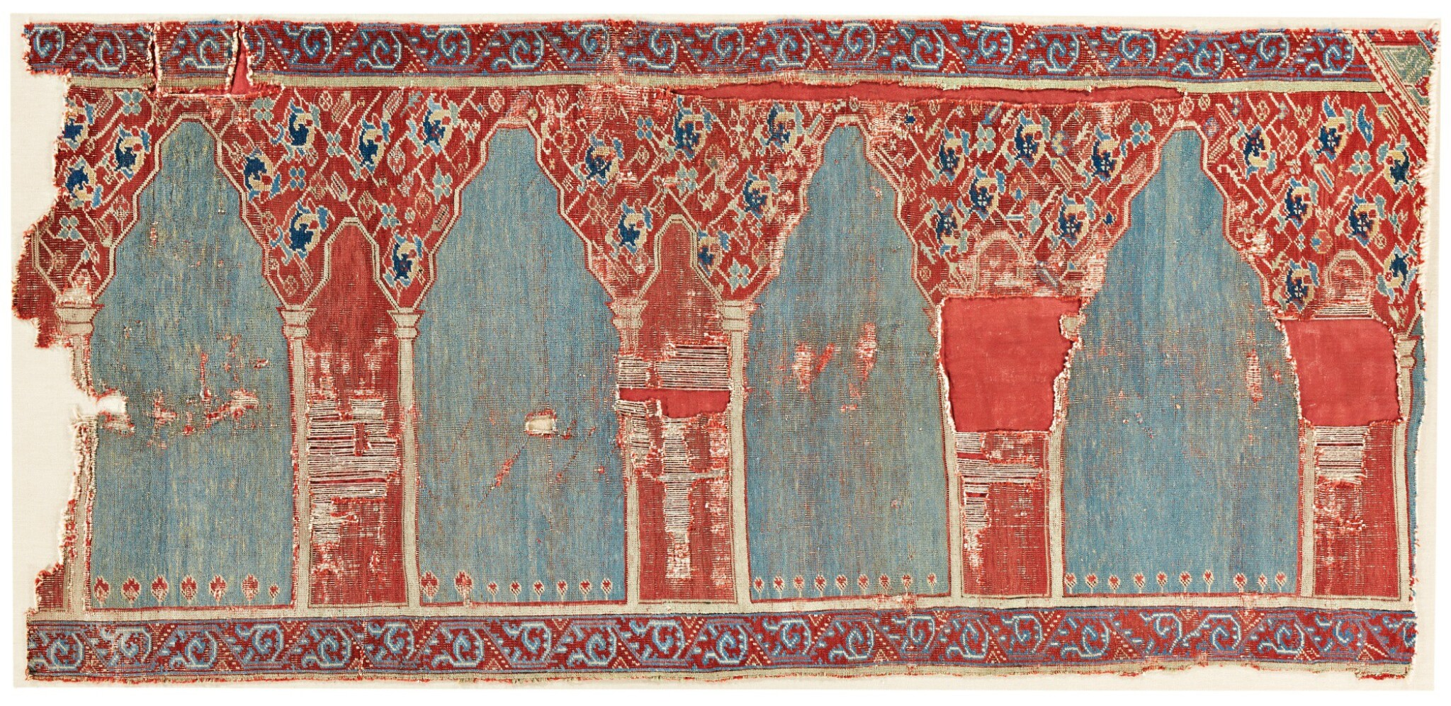View full screen - View 1 of Lot 253. AN OUSHAK FRAGMENTARY SAPH, WEST ANATOLIA.