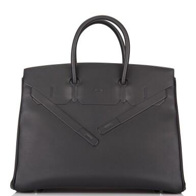 View 1. Thumbnail of Lot 32. Hermès Black Shadow Birkin 35cm of Swift Leather.
