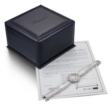 View 4. Thumbnail of Lot 1020. RARE AND POSSIBLY UNIQUE MANUALLY-WOUND DIAMOND WRISTWATCH, CHOPARD 罕有並可能獨一無二手動上鏈鑽石腕錶, 蕭邦 (Chopard) .
