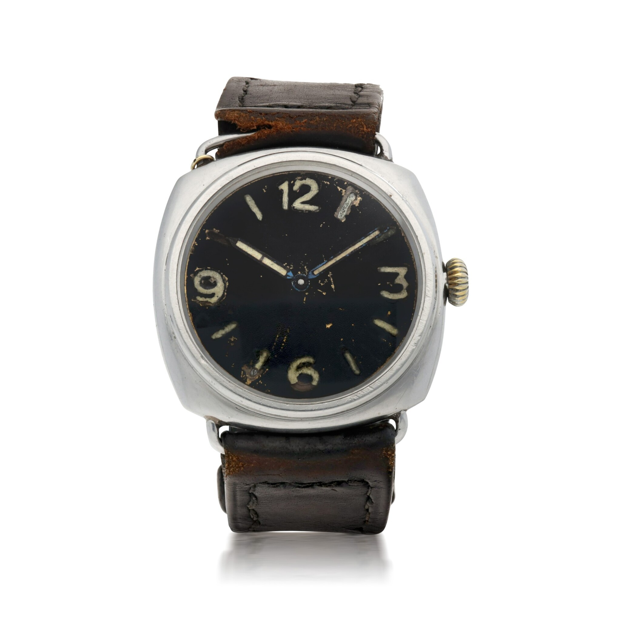 View full screen - View 1 of Lot 189. RADIOMIR, REF 3646 STAINLESS STEEL MILITARY DIVERS' WATCH CIRCA 1940.