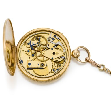 View 5. Thumbnail of Lot 221. CHARLES MUGNIER | A GOLD OPEN-FACED QUARTER REPEATING WATCH  CIRCA 1820, NO. 860.