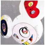 TAKASHI MURAKAMI | DOB IN PURE WHITE ROBE (NAVY & VERMILION); AND DOB IN PURE WHITE ROBE (PINK & BLUE)