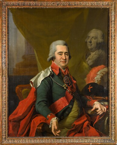 View 2. Thumbnail of Lot 8. Portrait of Count Ilya Andreevich Bezborodko.