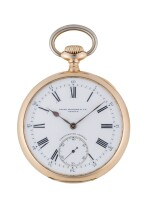 PATEK PHILIPPE   CHRONOMETRO GONDOLO PINK GOLD OPEN-FACED WATCH MADE IN 1914