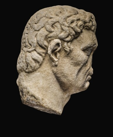 View 2. Thumbnail of Lot 41. A ROMAN MONUMENTAL MARBLE PORTRAIT HEAD OF NERVA, LATE 1ST CENTURY A.D..