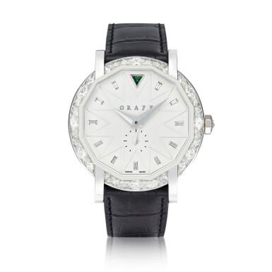 View 1. Thumbnail of Lot 1842. 'GraffStar' Limited Edition Diamond and Emerald Wristwatch with Date   格拉夫   'GraffStar' 限量版鑽石 配 祖母綠 自動上鏈腕錶,附日期顯示.