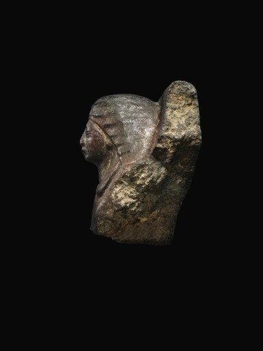View 3. Thumbnail of Lot 54. AN EGYPTIAN GRANITE BUST OF MAN, 19TH/20TH DYNASTY, 1292-1075 B.C..