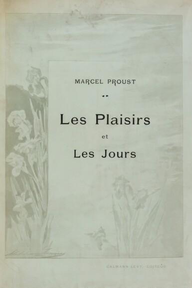 View 3. Thumbnail of Lot 172. Les Plaisirs et les Jours. Ex. de Heredia. Avec envoi de Proust et de M. Lemaire, et une aquarelle originale.