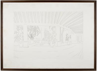 View 2. Thumbnail of Lot 144. DAVID HOCKNEY, R.A. | MEXICAN HOTEL GARDEN (MCA TOKYO 256).