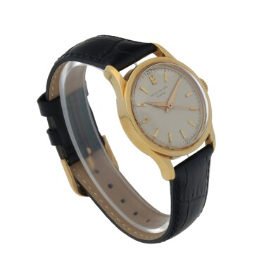 View 3. Thumbnail of Lot 85. Ref. 2555 Yellow Gold Wristwatch Made in 1955 | 百達翡麗 2555型號黃金腕錶,1955年製.