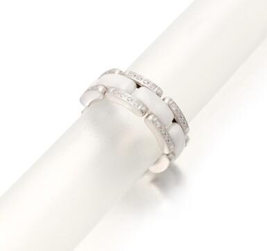 View 2. Thumbnail of Lot 207.  CHANEL   WHITE CERAMIC AND DIAMOND 'ULTRA RING'   (ANELLO IN CERAMICA BIANCA E DIAMANTI).