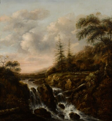 KLAES MOLENAER | A waterfall in a mountainous river landscape