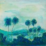 Klapperbomen in Landschap (Coconut Trees in a Landscape)   風景中椰子樹