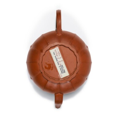 View 6. Thumbnail of Lot 23. A Yixing teapot and cover, Qing dynasty.