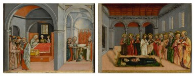MATTEO CESA | THE BIRTH AND THE PRESENTATION OF THE VIRGIN MARY IN THE TEMPLE; THE DORMITION OF THE VIRGIN MARY