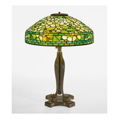 "TIFFANY STUDIOS | ""DOGWOOD"" TABLE LAMP"