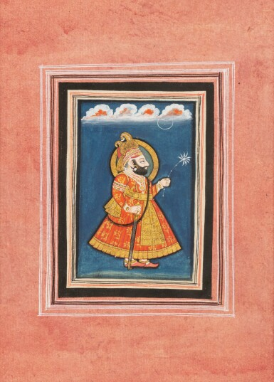 View 7. Thumbnail of Lot 68. RAJASTHAN, MEWAR, LATE 18TH CENTURY AND EARLY 19TH CENTURY | FOUR PORTRAITS OF INDIAN DIGNITARIES.