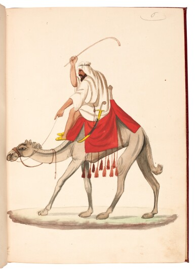 View 1. Thumbnail of Lot 82. EGYPT | Album of seventy six watercolours of Egyptian costume and views, 19th century.