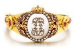 Rock Crystal, Ruby and Diamond Bangle, Late 19th Century | 白水晶 配 紅寶石 及 鑽石 手鐲, 19世紀末