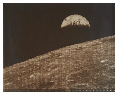 LUNAR ORBITER I. HUMANKIND'S FIRST LOOK AT THE EARTH FROM THE MOON, 23 AUGUST, 1966.