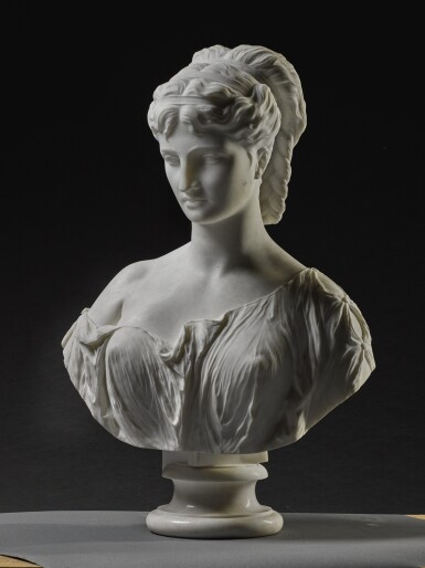 View 3. Thumbnail of Lot 7. PROSPER D' EPINAY | GRECIAN BUST.