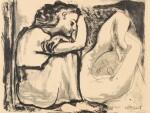 PABLO PICASSO | FEMME ASSISE ET DORMEUSE (B. 455; M. 104)
