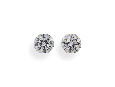 A Pair of 0.52 and 0.50 Carat Round Diamonds, G Color, VVS1 Clarity