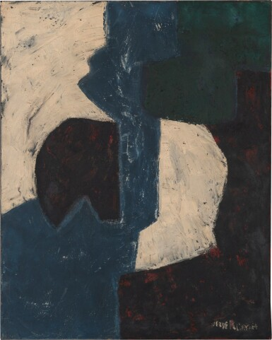 SERGE POLIAKOFF | COMPOSITION AUX FORMES BLANCHES, 1959