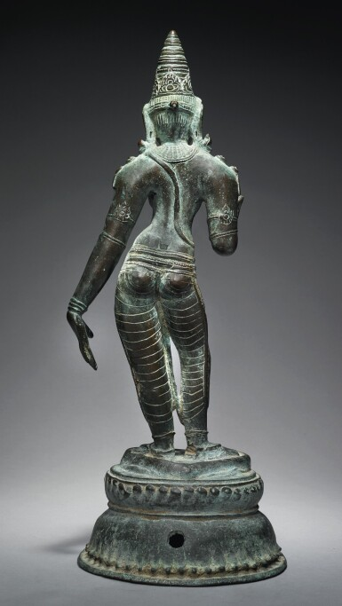 View 3. Thumbnail of Lot 354. A COPPER ALLOY FIGURE OF UMA,  SOUTH INDIA, CHOLA PERIOD, 11TH CENTURY.