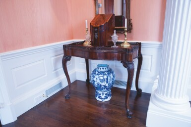 View 2. Thumbnail of Lot 585. A GEORGE II STYLE MAHOGANY SILVER TABLE, 19TH CENTURY.