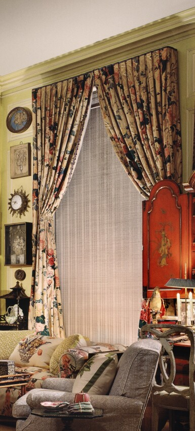 View 1. Thumbnail of Lot 159. A PAIR OF CURTAINS.
