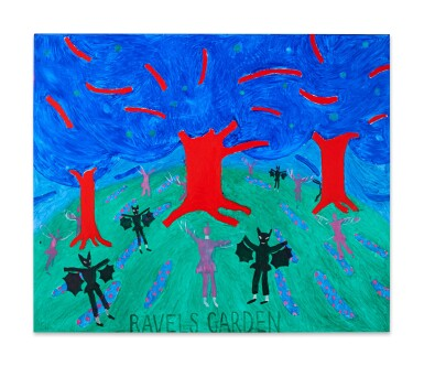 View 2. Thumbnail of Lot 217. Ravel's Garden with Night Glow.