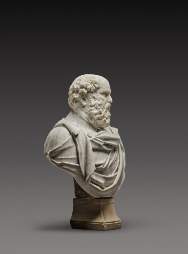 View 4. Thumbnail of Lot 121. Italian, 17th century | Monumental Bust of a Philosopher.