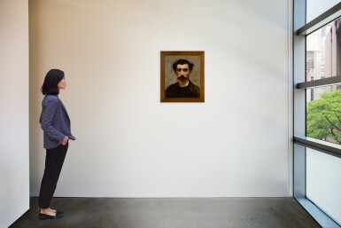 View 2. Thumbnail of Lot 134. HECTOR HANOTEAU  |  PORTRAIT OF A MAN WITH A MUSTACHE.