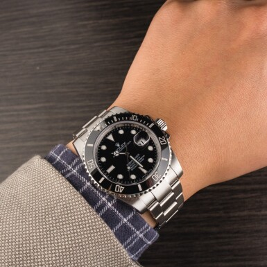 View 4. Thumbnail of Lot 1. ROLEX | Submariner, Ref. 116610LN, A Stainless Steel Wristwatch with Bracelet, Circa 2017  .