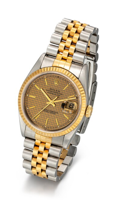 View 2. Thumbnail of Lot 1106. ROLEX | DATEJUST, REFERENCE 16233 A YELLOW GOLD AND STAINLESS STEEL WRISTWATCH WITH DATE AND BRACELET, CIRCA 1994.