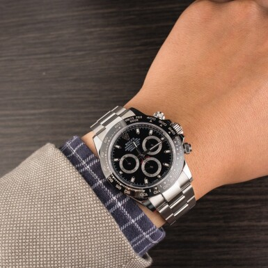 View 4. Thumbnail of Lot 10. ROLEX   Daytona, Ref. 116500LN, A Stainless Steel Chronograph Wristwatch with Bracelet, Circa 2018 .
