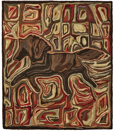 View 1. Thumbnail of Lot 1460.  'RUNNING HORSE' HOOKED RUG, JOHN ANDERSON, LATE 20TH CENTURY.