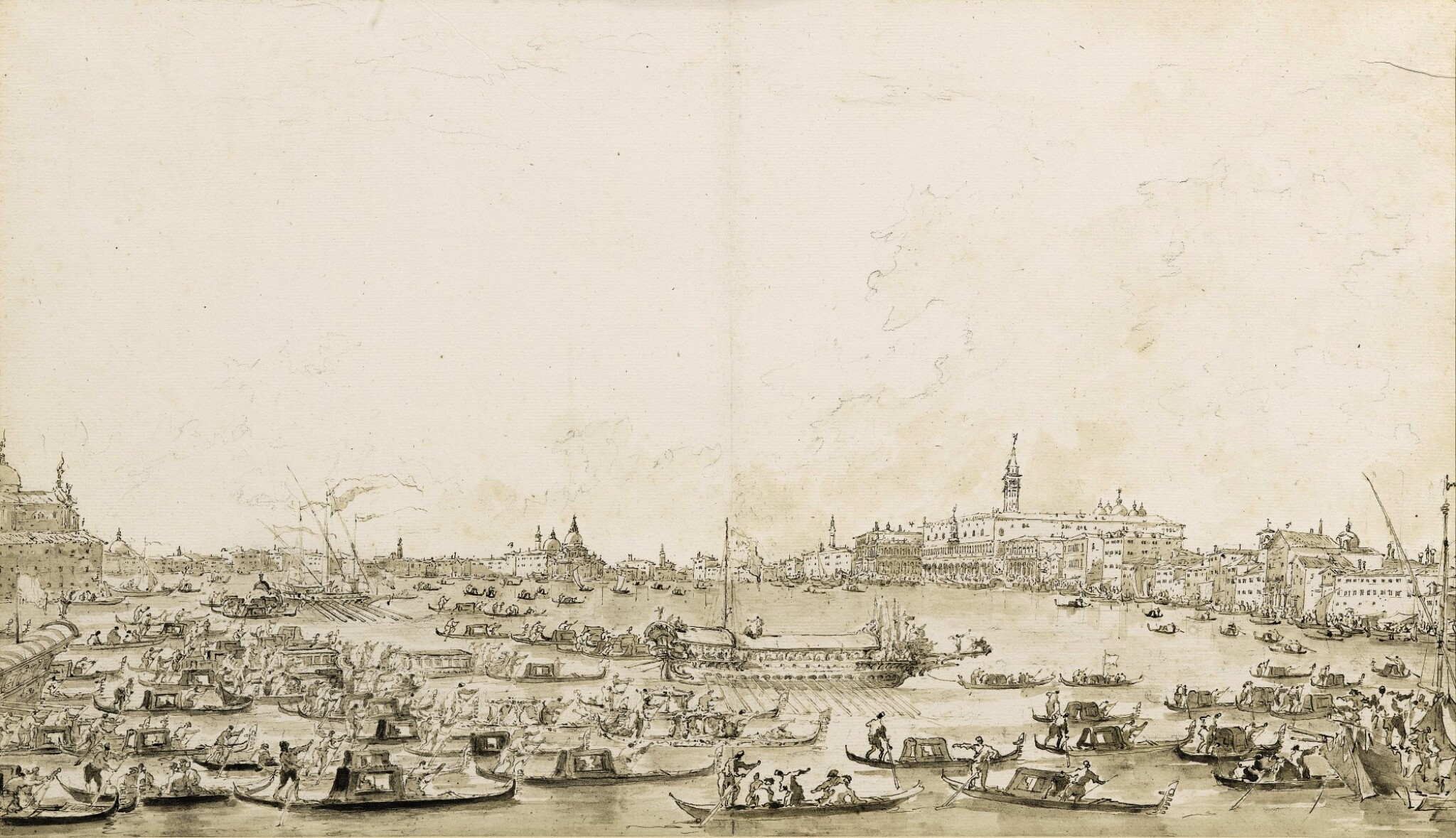 View full screen - View 1 of Lot 59. The Return of the Bucintoro from S. Nicolò di Lido.