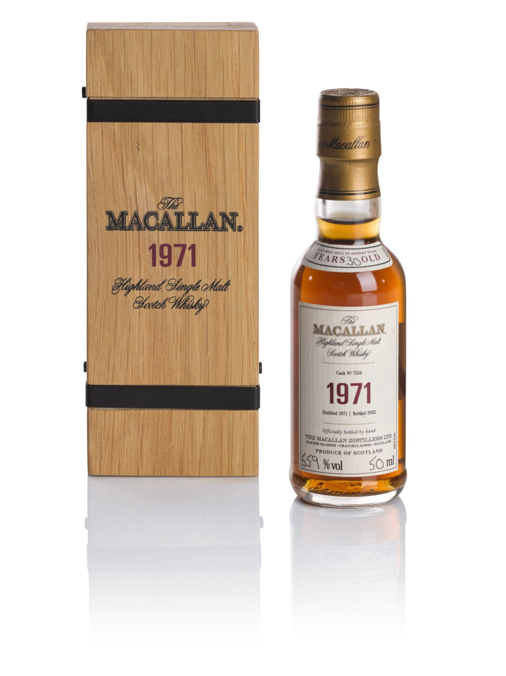 View full screen - View 1 of Lot 79. THE MACALLAN FINE & RARE 30 YEAR OLD 55.9 ABV 1971 .