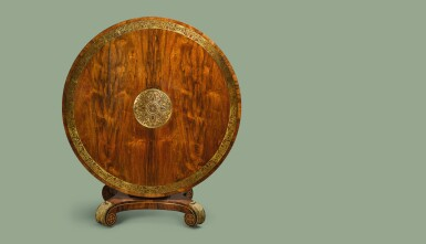 View 2. Thumbnail of Lot 17. A GEORGE IV GILT-BRASS MOUNTED AND INLAID ROSEWOOD CENTER TABLE, CIRCA 1820.
