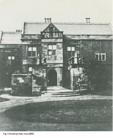 View 5. Thumbnail of Lot 5. JOHN ATKINSON GRIMSHAW | KNOSTROP OLD HALL AT DUSK.